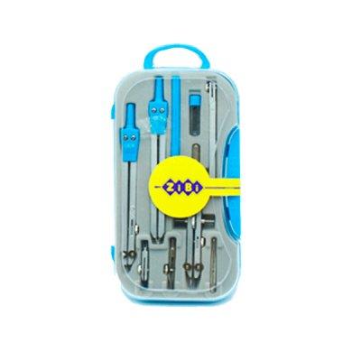 """Готовальня """"BuroMAX"""" 9419/ZB.5314-14 CL 9 предметов, голубая"""