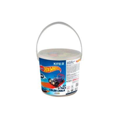 Мел цветной 5 цветов Kite HW21-074 Jumbo в ведерке 15 шт