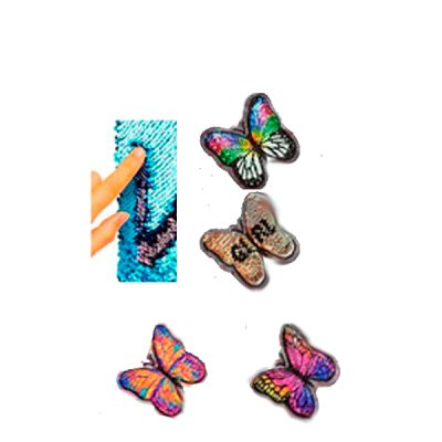 Аппликация нашивка Бабочка пайетками 9 х 8,5 см Mix **