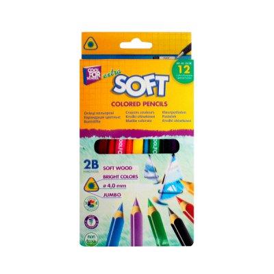Карандаши цветные Jumbo Extra Soft CF15136 12 цветов  **