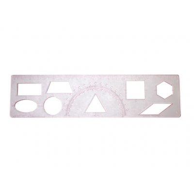Трафарет геометрических фигур 215х55 ТГ-1