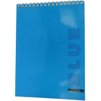 Блокнот А4 48 л # в клетку ВА4248-001 мягкая обложка, спираль вверху, синий