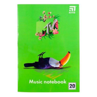 """Тетрадь для нот А4 """"Kite"""" MTV20-404-1 """"MTV-1"""" 20 л"""