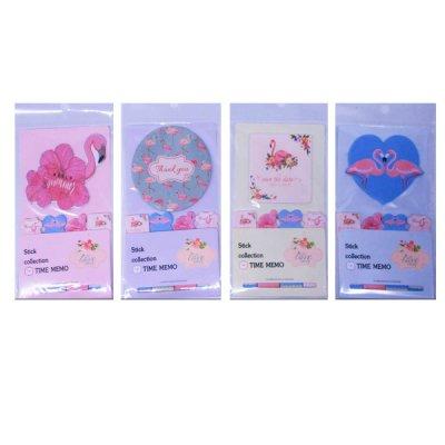 """Блок бумаги  липкий """"Фламинго"""" 6011 5х20 л Mix"""