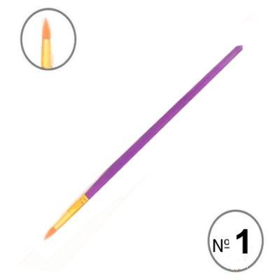 Кисть живописная (нейлон) RA7611 круглая 16 см № 1