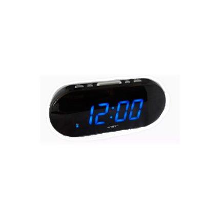 Часы-будильник электрон. VST 717-5 синие **