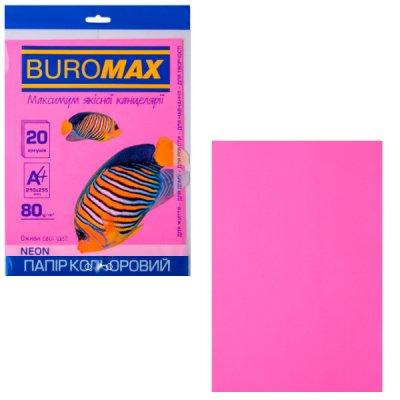 """Бумага """"BuroMAX"""" А4 80 г/м2 (20 л) BM2721520-29 неоново малиновая  **"""