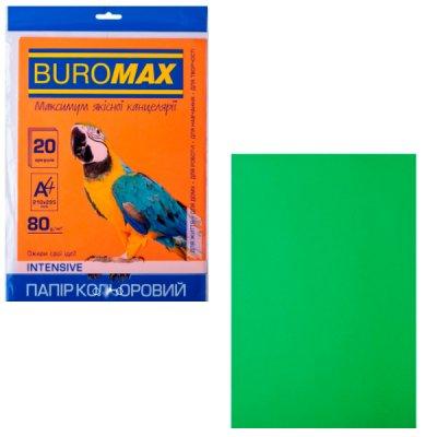 """Бумага """"BuroMAX"""" А4 80 г/м2 (20 л) BM2721320-04 Intensiv  зеленый **"""