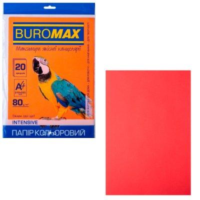 """Бумага """"BuroMAX"""" А4 80г/м2 (20л) BM2721320-05 Intensiv  красн. **"""