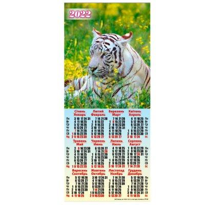 Календарь настенный третинка 2022 ( 200х425 ) ТР-03 Тигр в поле