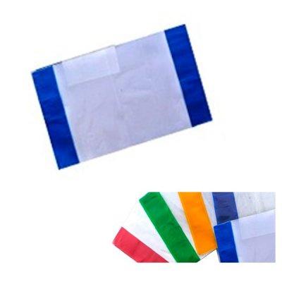 Обложка А5 ПВХ для тетрадей и дневника 2205-ТМ 75 мк с цветным кантом