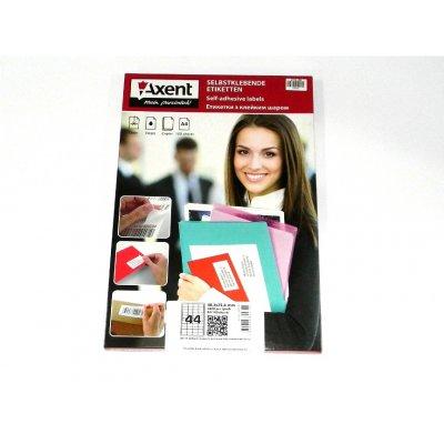 """Бумага самоклеющаяся А4 """"Axent""""  44 шт на листке 48,3х25,4 2477 (100 л)"""
