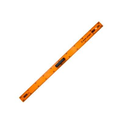 """Линейка пл. 1м """"ZiBi"""" ZB5619 TEACHER с ручкой оранж."""