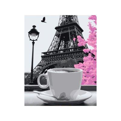 """Набор картина по номер. 40х50 """"Кофе в Париже"""" 11208-АС **"""