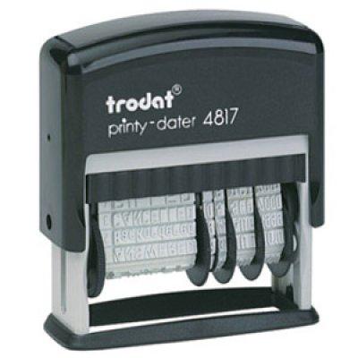 Датер 3,8 мм пластиковый с 12-ю бухгалтерскими терминами TR4817 Украинский язык синий