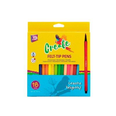 Фломастеры  CF-15217 18 цветов Cool for school в коробке