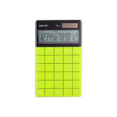 "Калькулятор ""Deli"" 1589-G 12р. зел."