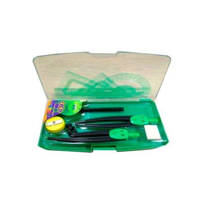 Готовальня ZiBi ZB.5317-04 BS 9 предметов, зелёная