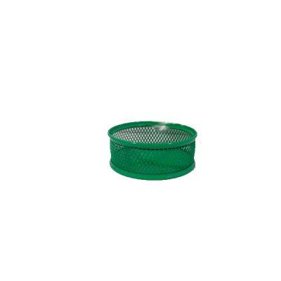 """Бокс для скрепок """"BuroMAX"""" ВМ6221-04 металлический зеленый мини"""