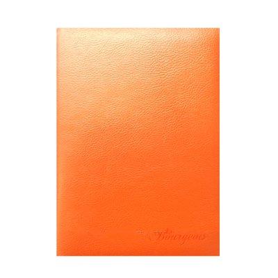 """Блокнот А5 # в клетку """"М"""" 9050 Кожзам оранжевый"""