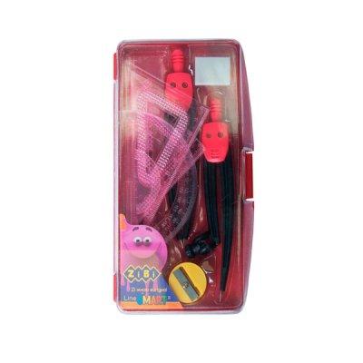 Готовальня ZiBi ZB.5317-05 BS 9 предметов, красная