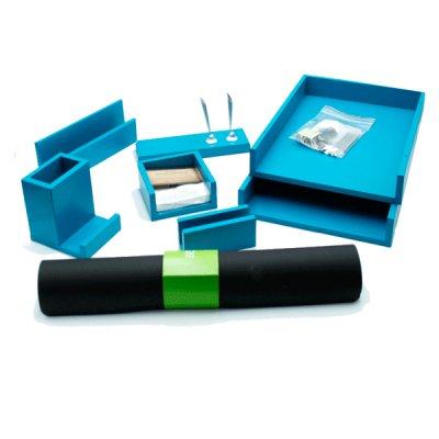Набор офисный 7272 FDL 7 предметов голубое дерево **