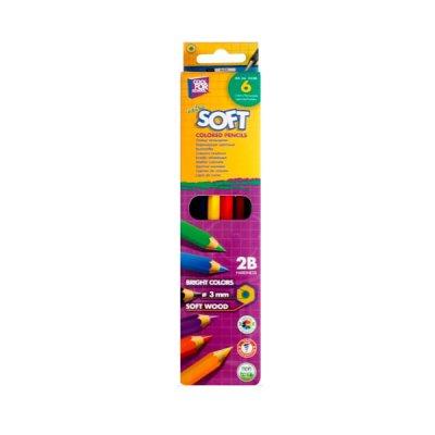 Карандаши цветные CFS CF15130 Extra Soft 6 цветов **