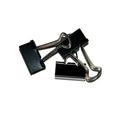 Биндер-зажим металлический 25 мм TZ-821 черный