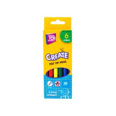 Фломастеры  CF-15215 6 цветов Cool for school в коробке