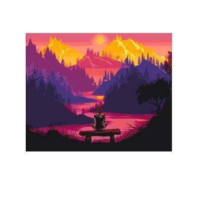 "Набор картина по номер. 40х50 ""Гармония с природой"" 10537-АС **"