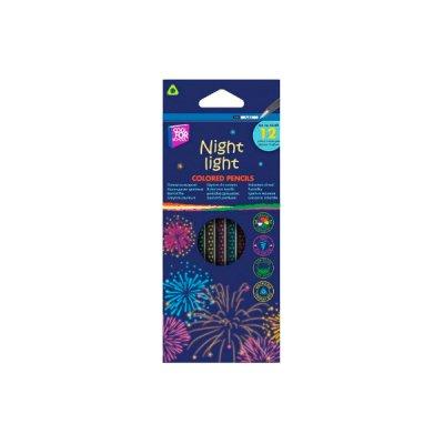 Карандаши CFS CF15183 Night light трехгранные 12 цветов **