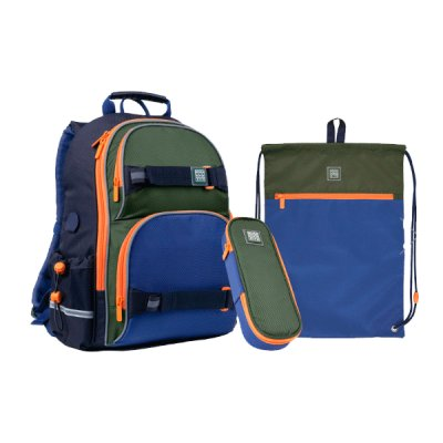 Набор Kate  рюкзак пенал сумка для обуви SET_WK21-702M-2 ##