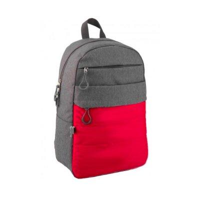 """Рюкзак """"GoPack"""" GO20-118L-1 """"City"""" серый с красным *"""