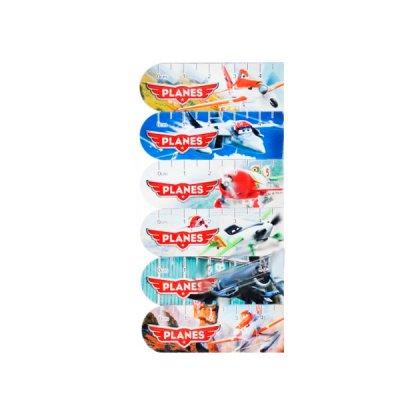 Закладка для книг магнит Самолеты 6 шт. Mix