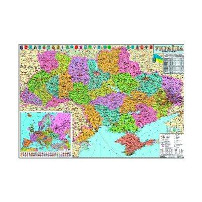 Карта Украины административной территории М1:250 000 тыс. А0 110х77 (картон) укр