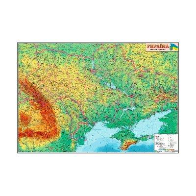 Карта Украины физическая М1:1 250 тыс А0 110х77 (картон)
