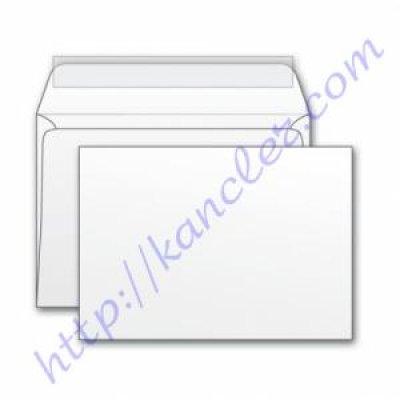 Конверт 110х220 DL СКЛ бел 80гр с окном (2140)