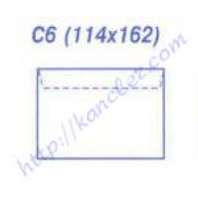 Конверт 114х162 С6 МК бел. 75гр (1000/1004/1012)
