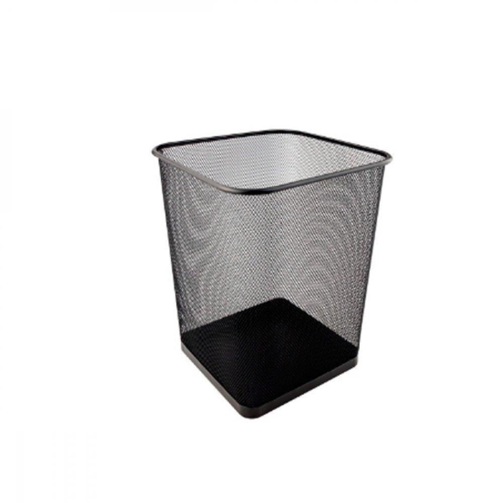 """Корзина для бумаг """"Axent"""" 2124-01 квадратная металлическая черная"""