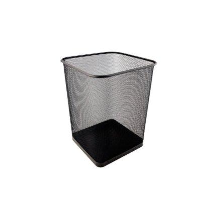 "Корзина для бумаг ""Axent"" 2124-01 квадр.метал.черн."