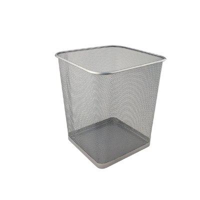 """Корзина для бумаг """"Axent"""" 2124-03 квадр.метал.сереб."""