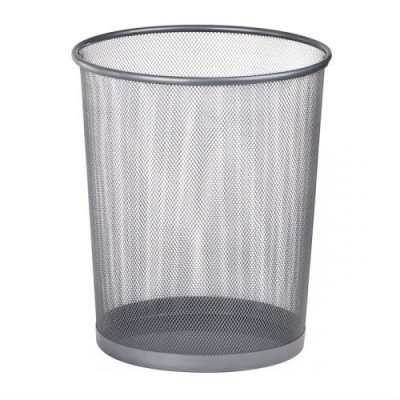 """Корзина для бумаг """"BuroMAX"""" BM 6270-24 круглая металическая серебро"""