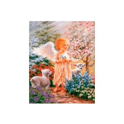 Алмазная живопись 40 х 50 см Ангелочек с овечками 73901 **