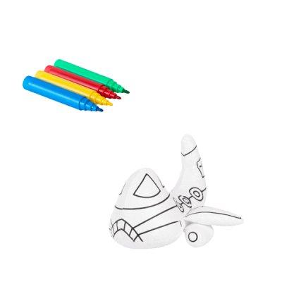 Набор изделие для раскраски + 4 фломастера MX63018 Самолет **