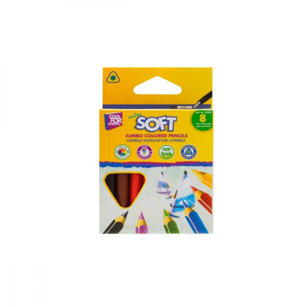 Карандаши цветные короткие Jumbo Extra Soft CF15165 8 цветов  **