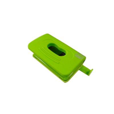 "Дырокол ""BuroMAX"" 4016-15 Rubber Touch (10л пл.с лин.на 2отв.) св.зел."
