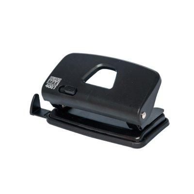 """Дырокол """"BuroMAX"""" 4007-01 на 10 листов  пластиковый с линейкой, черный"""