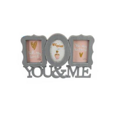 "Рамка для фото ""You & Me"" 5-53018 бел. **"