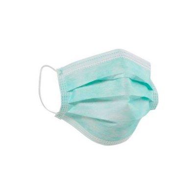 Маска медицинская трехслойная голубая *