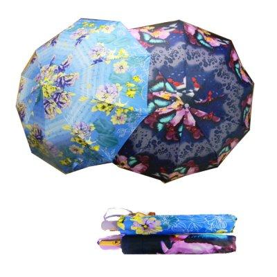 Зонт женский полуавтомат 125  с рисунком **
